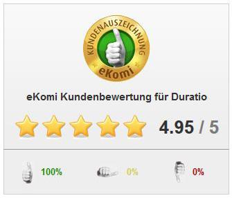 eKomi - Toller Kreditvergleich bei Duratio mit 100% zufriedenen Kunden