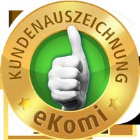 eKomi GOLD Auszeichnung für den Vergleich von Krediten bei Duratio