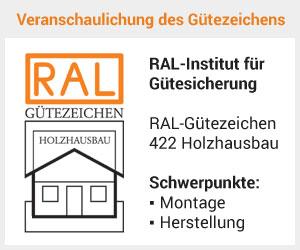 Leichtere Finanzierung mit RAL Gütezeichen 422 Holzhausbau