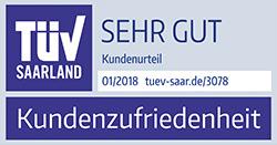 TÜV Zertifikat - Kundenzufriedenheit Kreditvergleich - Testurteil SEHR GUT